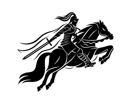 Alter Krieger zu Pferd.