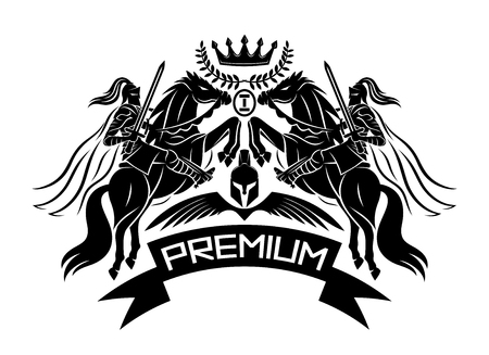 Premium sign with knights.