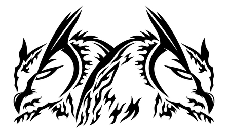 Two owls black sign.