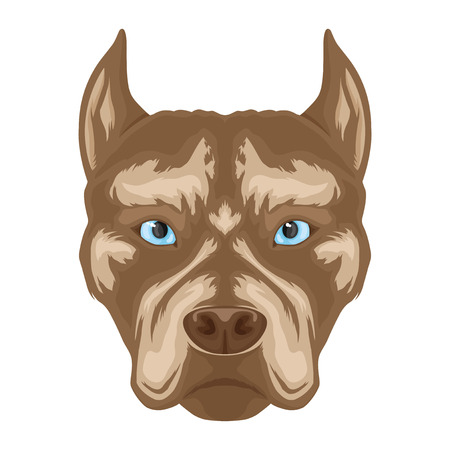 Dog breed pit bull terrier sign.