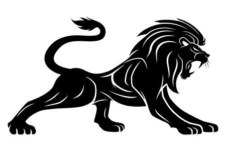 Black lion sign.