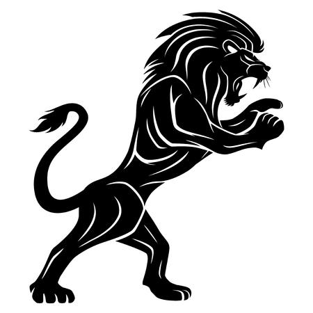Signe du lion noir.