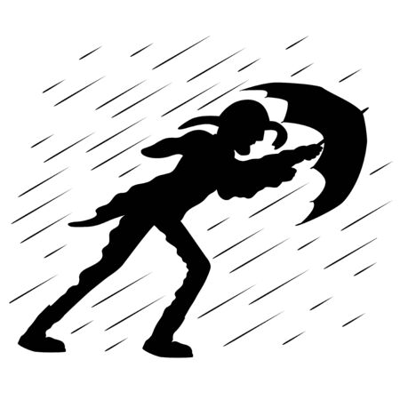 Ein Mann mit Regenschirm.