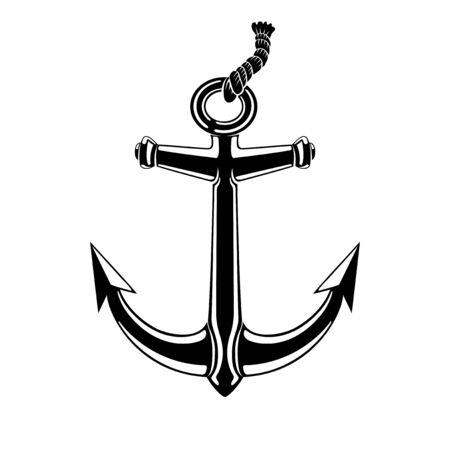 Black anchor sign.