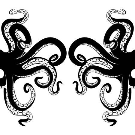 Black octopus tentacles.