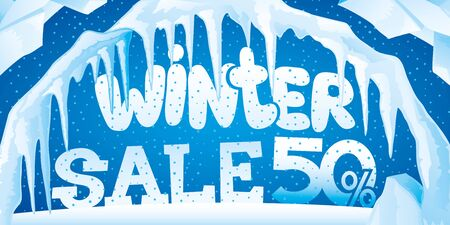 Winter banner of sales for sales.