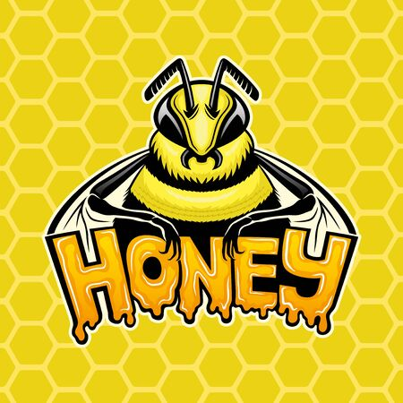 Honey sign with a bee.