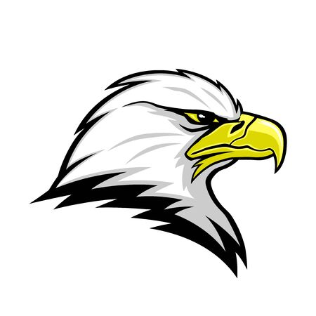 Eagle head mascot sign on a white background.