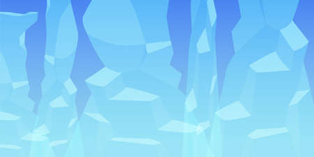 Abstract background with icebergs on blue background.