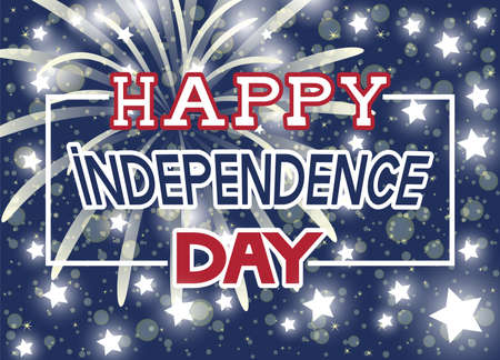 Bright festive illustration for Happy Independence Day.