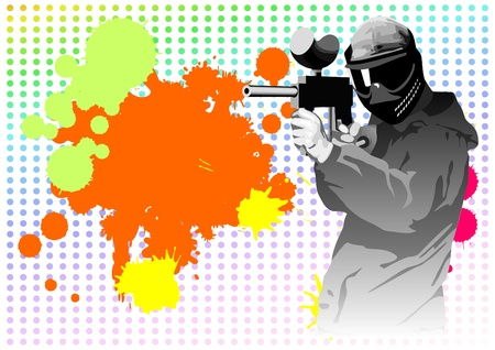 paintball: Paintball on a background from blots