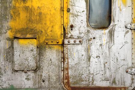 pawl: Old scratched door