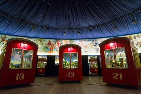 2 november: VIENNA - NOVEMBER, 2. An exibition in a Prater park old ferris wheel museum. November, 2, Vienna, Austria.