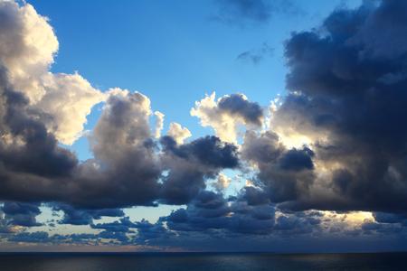 cloudscapes: Dramatic cloudscape above the evening Adriatic sea.