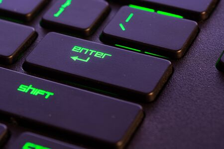 enter button: membrane keyboard focus on the enter button