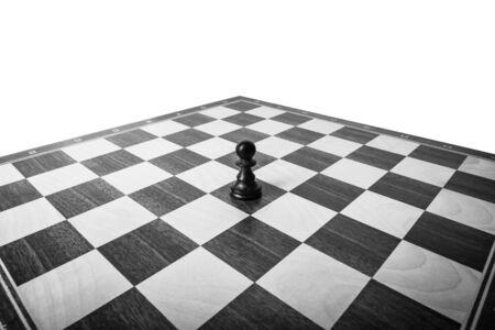 tablero de ajedrez: peón en el tablero de ajedrez