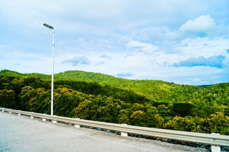 wayside: Beatiful green mountain on the wayside