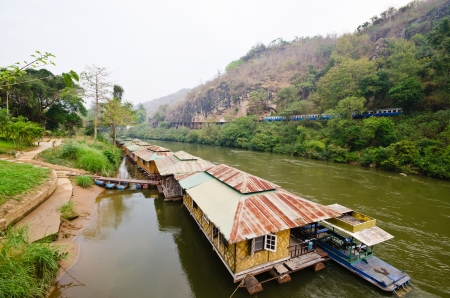 The dead rail way  Tham-Kra-Sae Bridge