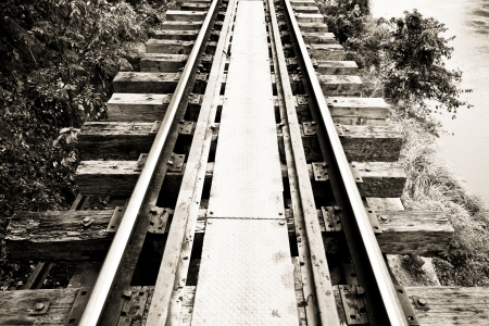 The dead railway (Black and White) photo