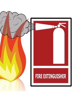 Safety first concept  Protable Fire Extinguisher  photo