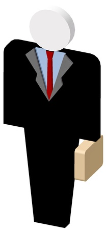 Manager with briefcase icon in white background Stock Photo