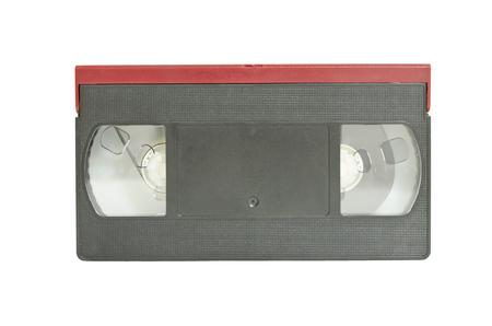 vdo: The black-red VDO tape on white background Stock Photo