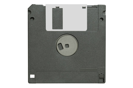 gatherer: The black floppy disk on white background