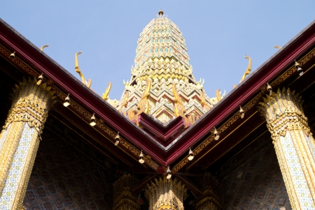 thaiart: Thai-Art style building in look up view
