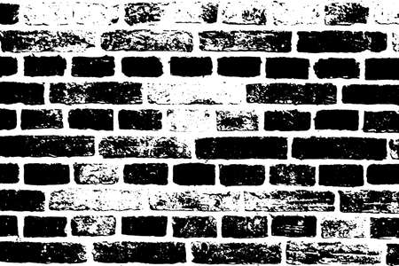 Abstract Aged Brick Wall Texture. Vector of Rough Textured Background Ilustração