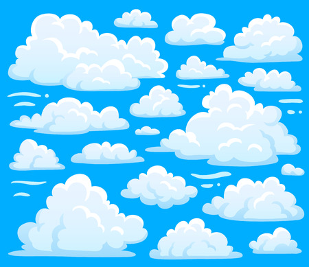 White Blue Day Cumulus Cloud Symbol Shape Or Cloudscape Background