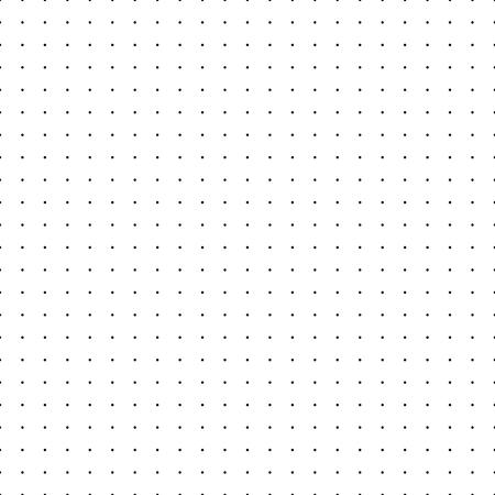 Cuadrícula punteada. Patrones sin fisuras con puntos. Fondo de relleno de vector blanco de matriz simplificada. La textura del papel tapiz o el diseño de un cuaderno simplifican las plantillas