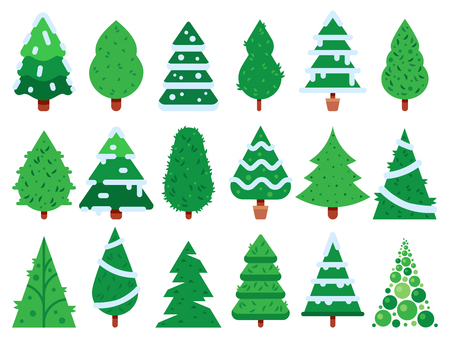 green christmas tree simple xmas trees shape nature fir unusual trees template for new