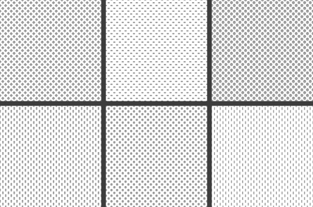 Sport jersey fabric textures. Athletic textile mesh material structure texture, nylon sports wear grid cloth or football athletic shirt soft material. Fabric seamless vector pattern collage