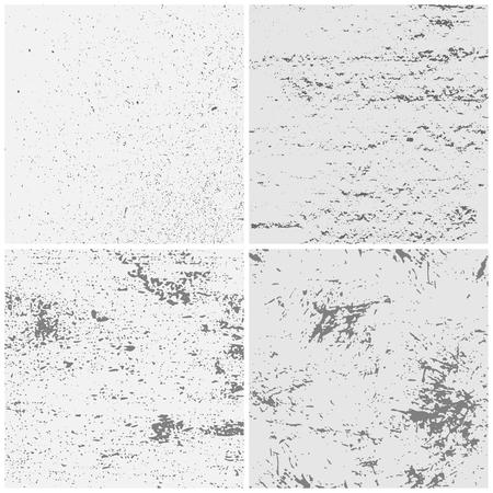 Textura grunge. Papel rugoso texturizado, papeles arrugados, texturas de páginas y patrón varonil. Textura de grano, álbum de recortes de papel envejecido o conjunto de fondo de vector de papel tapiz desgastado artesanal Ilustración de vector