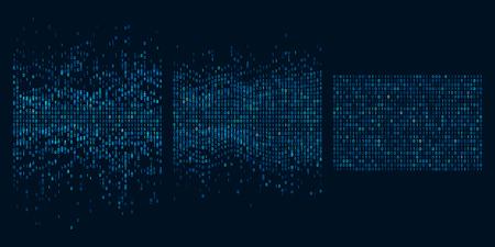 Big data sorting. Information analytics algorithms, machine learning and intelligence data picking. Digital software, innovation analytic intelligence process vector concept illustration