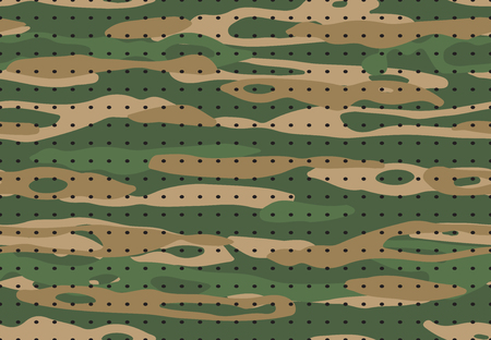 Military camouflage. Army camo textile texture, hunting green camouflaged fabric print. Soldier hide war masking material, military commando uniform vector seamless pattern