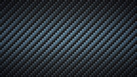 Black carbon fiber texture. Dark metallic surface, fibers weaves pattern and textured composite material vector background, website wallpaper Stock Illustratie