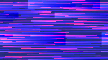 Cyberpunk neon glitch seamless pattern. Pixel noise on computer screen with bright lines bug. Distorted signal in synth wave. hacker attack or technological error vector illustration Stock fotó - 155581278