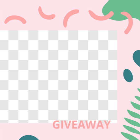 Floral post. Garden flora giveaway social media post template. Vector give away fashion brochure, promo template poster media illustration Illusztráció