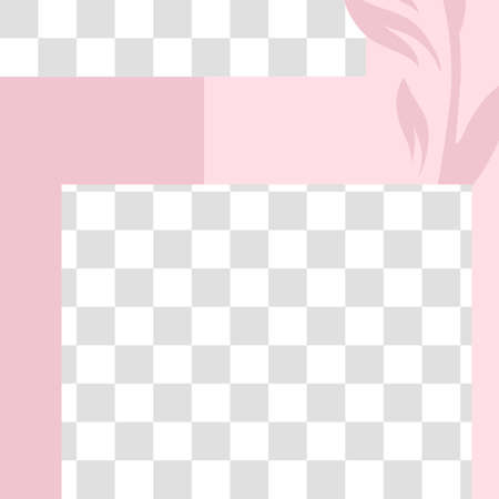 Pink floral post. Cute abstract social media post template. Vector trendy layout, promo mockup illustration. Web advertisement fashion