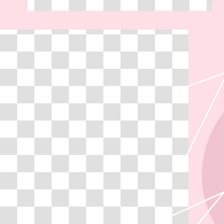 Pink floral post. Cute abstract social media post template. Promo advertisement and promotion post layout illustration