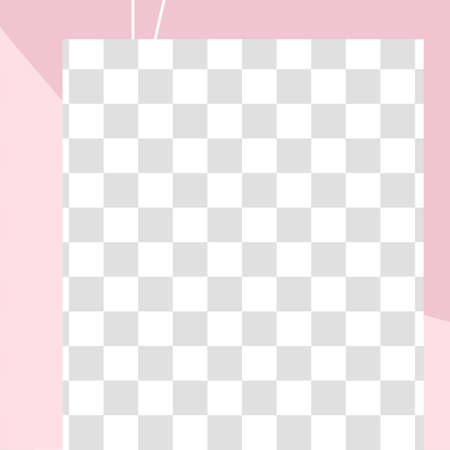 Pink floral post. Cute abstract social media post template. Vector promotion communication advertising, abstraction post layout illustration
