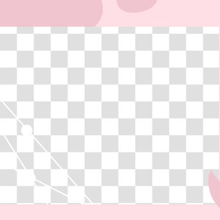 Pink floral post. Cute abstract social media post template. Post square for announcement in social media illustration Vettoriali