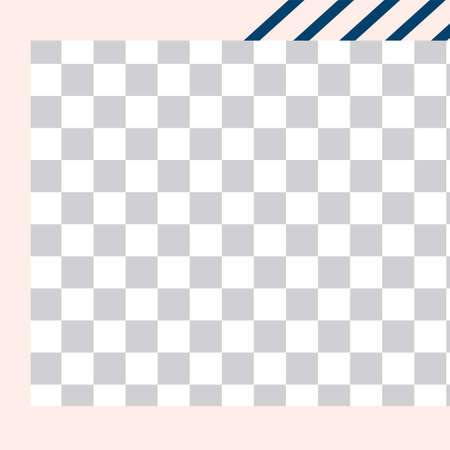 Memphis style post. Trendy abstract social media post template. Post geometry pattern transparent for media, advertising memphis style. Vector illustration Vettoriali