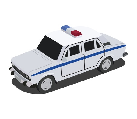 female police: The police car of the Russian authorities Illustration