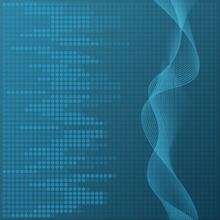 Digital blue equalizer background. Vector