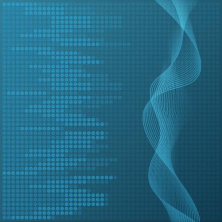 Digital blue equalizer background.