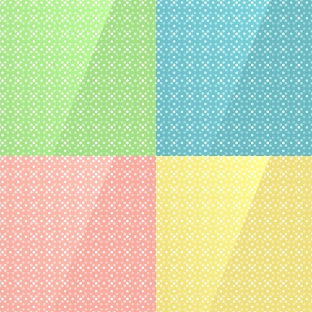 Four variations of colors seamless texture