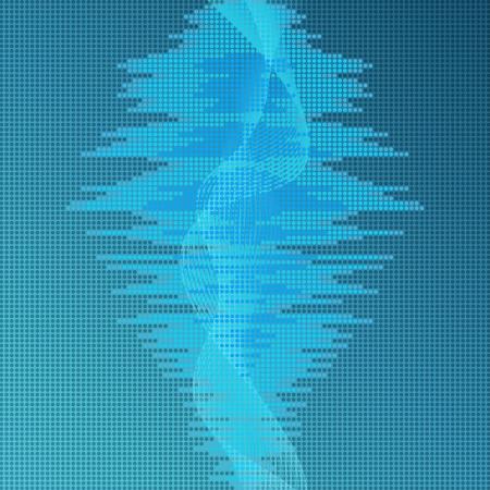 Digital blue equalizer background  Vector
