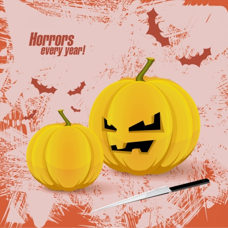 afterglow: Creative background  Halloween postert Illustration